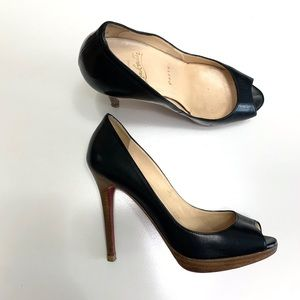 100% Auth Christian Louboutin shoes 36.5 6.5 black